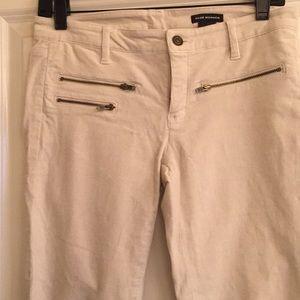 98% cotton zipper jean, fine cordoroy/velour